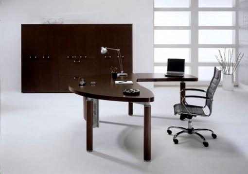curve edged desk 3 510x358 Nguyên tắc phong thủy cho bàn học, bàn làm việc để sự nghiệp được hanh thông