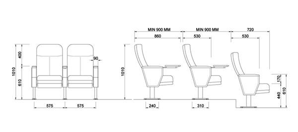 Thông tin ghế hội trường MO7602