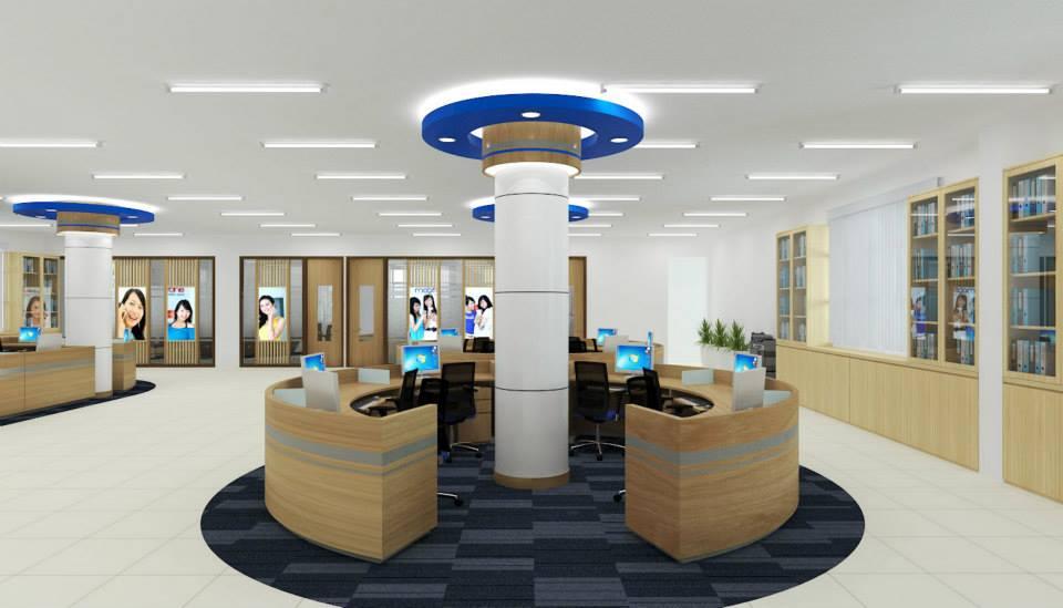 thiết kế nội thất văn phòng tiện nghi, đa năng